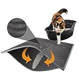 Dubbellaagse kattenbakmat, waterdicht EVA Scatter Control Trapper Pad met honingraatstructuur.