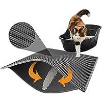 Mallalah Alfombrilla de Arena para Gatos, Duradera, Impermeable, no tóxica, para Proteger el Suelo, fácil de Limpiar, Doble Capa Impermeable,Bandeja para Arena de Gato (30 * 30cm)