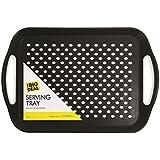 1 x rechthoekig antislip serveren kalm en zwart of wit kleur bij toeval - 40,5 x 28,5 cm - ideaal voor eten/diner/drankjes