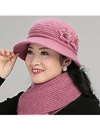 FRGVSXZCX Moda Cappelli Cappello Cappello Donna Cappello di Lana Invernale  Cappello Donna Inverno Cappello (Colore d917dec92af2