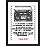 Public Enemy 'Black Steel in the Hour of Chaos' - Schwarzer Stahl in der Stunde des Chaos Lyrics Print 11 x 14/8 x 10/5 x 7