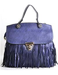 Hopping Street Zip Navy Blue Handbag