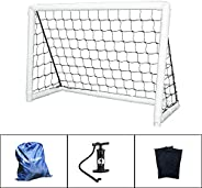 IDEALT Portable Soccer Goal Inflatable Soccer Goal with Net and Pump Youth Outdoor Soccer Goal with Carry Bag