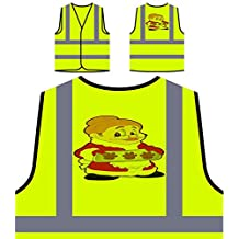 Novedad divertida de las galletas de la abuelita del cocinero principal Chaqueta de seguridad amarillo personalizado de alta visibilidad rr49v