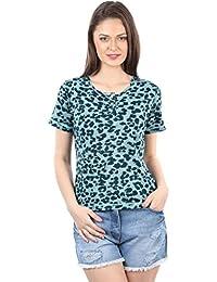 IRALZO Green animal Printed T-shirt
