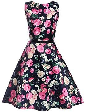 GAOLIM Vestido Sin Mangas De Impresión Posando Vestido, L, 8010