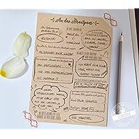 30 Gästebuchkarten für die Hochzeit - lustige Fragen an die Hochzeitsgäste, 21cm x 14,8cm