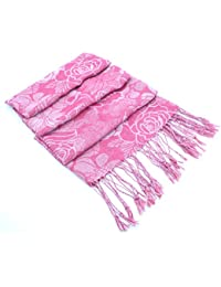 Ladies Floral Jacquard Shawl Scarf by RJM GL454-Available in Three Colours