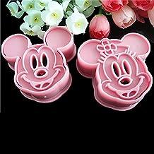 Mickey & Minnie Dibujos Animados cortador de galletas molde de repostería (Rosa DIY Decoración