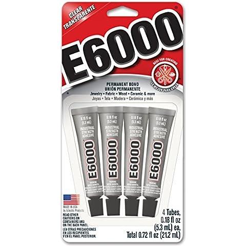 E-6000 multiuso .18ounces adesivo 4/Pkg-
