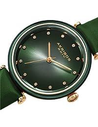 Akribos XXIV - Reloj de Pulsera para Mujer (Piel de Swarovski, Esfera de Dos