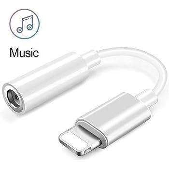 Joyguard Adaptateur pour iPhone, 3.5 mm Adaptateur Jack Audio Haute Résolution Adaptateur de Prise Casque pour iPhone [Blanc]