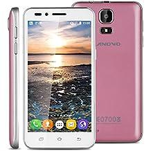 "Landvo V1 - 3G Smartphone Teléfono Móvil Libre (Pantalla 4.5"", Android 5.1, 4GB ROM, Quad-Core 1.3GHz, Dual SIM), Rosa"