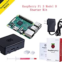 Raspberry Pi 3 Model B Kit ,Gehäuse(schwarz),Netzteil und Kühlkörper