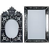 MADHUSUDAN GLASS WORKS Mirror & Plywood Wall Mirror (Pack Of 2, Silver) - B07BJ4H2LV