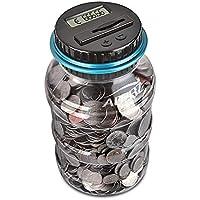 Preisvergleich für Digitale Piggy Bank EURO Counter, AOZBZ Automatische Münze Zählen Geld Box Sparschwein für Kinder und Erwachsene, Sichere Geld-Bank Münze Sparen Topf-Container mit LCD-Display und Große Kapazität