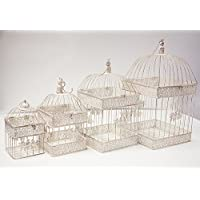 Rústico cuadrado Birdcage juego de 4Centro dt1001decoración para boda casa jardín