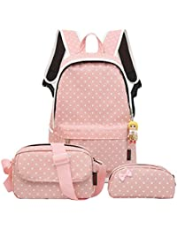 4Pcs Little Bow Kids Book Bag School Backpack Cute School Bags For Teen Girls