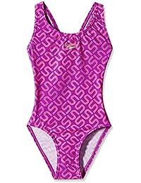 Speedo Girls Swimwear Monogram Allover Splashback One Piece