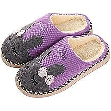 SAGUARO Inverno Pantofole Home Morbido Antiscivolo Cotone Scarpe Caldo  Peluche Casa Pattini per Donne Uomini e2ec4c1e744