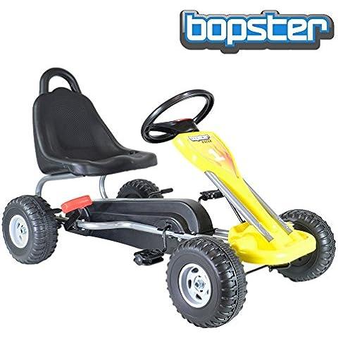 Coche Go Kart con pedales - color amarillo