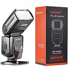 Neewer NW-565 EXN I-TTL Speedlight Esclavo con Difusor de Rebote Flash para Nikon D4, D3s, D3x, D3, D700, D300s, D300, D200,D100, D90, D80, D70s, D5200, D3200, D7000, D5100, D5000, D3100, D3000, D60, D40X, D800, D600, D7100 y todos otros modelos Nikon