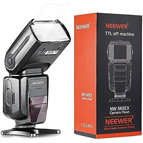 Neewer NW-565 EXN I-TTL Speedlight Esclavo con Difusor de Rebote Flash para Nikon D4, D3s, D3x, D3, D700, D300s, D300, D200,D100, D90, D80, D70s, D5200, D3200, D7000, D5100, D5000, D3100, D3000, D60, D40X, D800, D600, D7100 y todos otros modelos