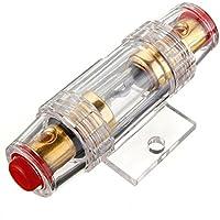 SODIAL Soporte de fusibles Estereo de 8 galgas AGU del Coche y Cable de Fusibles de Audio DE 60 amperios
