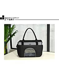 Emballage Pet Sac, Sac De Portables, Respirant Fournitures Non Déformées, Chien Sac,Black,L