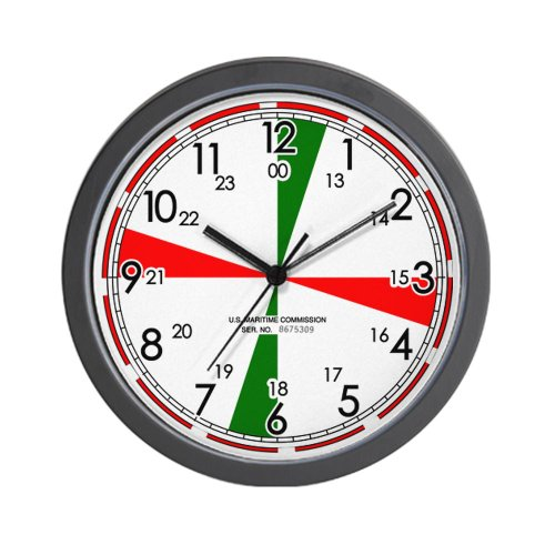 CafePress - Replica Ships Radio Room Wall Clock / White - Unique Decorative 10`` Wall Clock