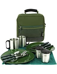 NGT Unisex Complete Session Outdoor Cutlery Set (109), Green, 23 x 10 x 23 cm