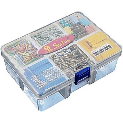 Calli Stoccaggio di plastica 6 Vano casi tool box smontabile trasparente