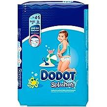 Dodot Splashers - 11 Pañales Bañadores Desechables, 9-15 kg, No Se Hinchan Y Fácil de Quitar, Talla 4