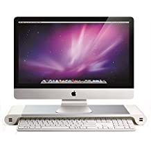 yumu monitorstnder aluminium legierung monitorerhhung bildschirmstnder usb laptop tisch schreibtischaufsatz - Computertisch Fr Imac 27