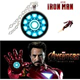 IRON MAN ARC REACTOR SILVER (SLV2) AVENGER 3D GLASS DOME IMPORTED PENDANT WITH CHAIN. LADY HAWK DESIGNER SERIES 2018. ❤ LATEST ARRIVALS - NOW ON SALE IN AMAZON - RINGS, KEYCHAINS, NECKLACE, BRACELET & T SHIRT - CAPTAIN AMERICA - AVENGERS - MARV