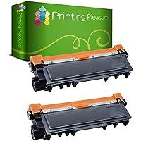 Printing Pleasure TN2320 Kit 2 Toner Compatibili per Brother HL-L2300D L2320D L2340DW L2360DN L2365DW L2380DW DCP-L2500D L2520DW L2540DN L2560DW MFC-L2700DW L2720DW L2740DW, Nero