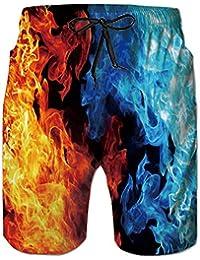 49c9e0e3f237 Loveternal Uomo Costume da Bagno Quick Dry Pantaloncini da Spiaggia  Stampato Swim Trunks