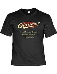 T-Shirt mit Urkunde - Oldtimer - Kein Rost - Nur leichte Gebrauchsspuren - Lustiges Sprüche Shirt als Geschenk zum Geburtstag