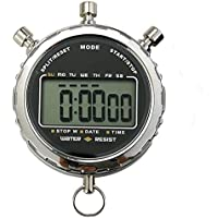 Digitale Stoppuhr,Laopao Handheld Großes LCD-Display Wasserdicht täglich alarm 1/100 Sekunden Precision Timer Für fussball Sports Training
