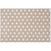 Creative Carpets Alfombra Infantil Estrellas, Algodón, Rosa, 80x150