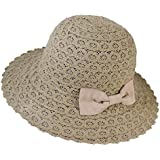 Dwayne C Women's Sun Hats Roll up Wide Brim Sun Visor UPF 50+ UV Protection Beach Straw Hat Visor Hats
