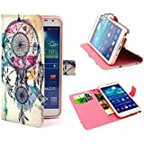 Semoss Retro Design Wind Chimes Coque Etui Housse PU Cuir pour Samsung Galaxy Note 3 N9000 N9005 Flip Portefeuille Cover avec Fonction Stand /Carte Credit Holder