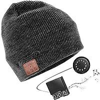 JIANYIJIA Bluetooth Hut,Unisex Bluetooth Mütze Waschbare Bluetooth Beanie Hut Drahtloser Music Cap mit Stereo Bluetooth Kopfhörer und Freisprecher Telefonbeantwortung Kompatibel mit Android und iOS