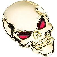 Eizur 3D Cranio Lega Metallo Adesivo per Auto moto Scheletro osso Emblem Badge Autoadesivo Styling Car Sticker decalcomania Accessori Taglia 3.4*5cm--Oro