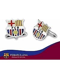 Gemelos escudo F.C. Barcelona Plata de ley esmaltado [6924] - Modelo: 10-068