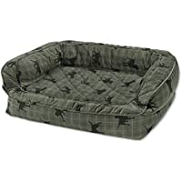 Orvis Memory Foam Couch Dog Bed / Large Dogs 60-90 Lbs., Lab Plaid,