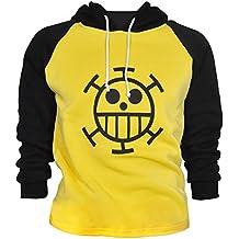 CoolChange Sudadera de Trafalgar Law con símbolo de Jolly Rogers del equipaje de piratas Sombrero de Paja de la serie One Piece. Talla: L