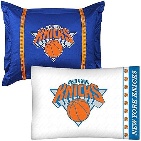2 pc NBA New York Knicks funda de almohada y de cojín Logo del equipo accesorios juego de ropa de cama de pelota de baloncesto
