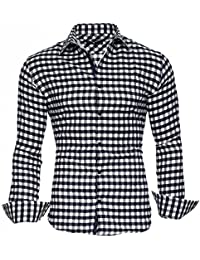 KAYHAN Homme Chemise Slim Fit Repassage facile, Manches Longues Modell - Brooklyn