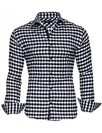 KAYHAN Herren Hemd Slim Fit Bügelleicht, Super Modern super Qualität Brooklyn